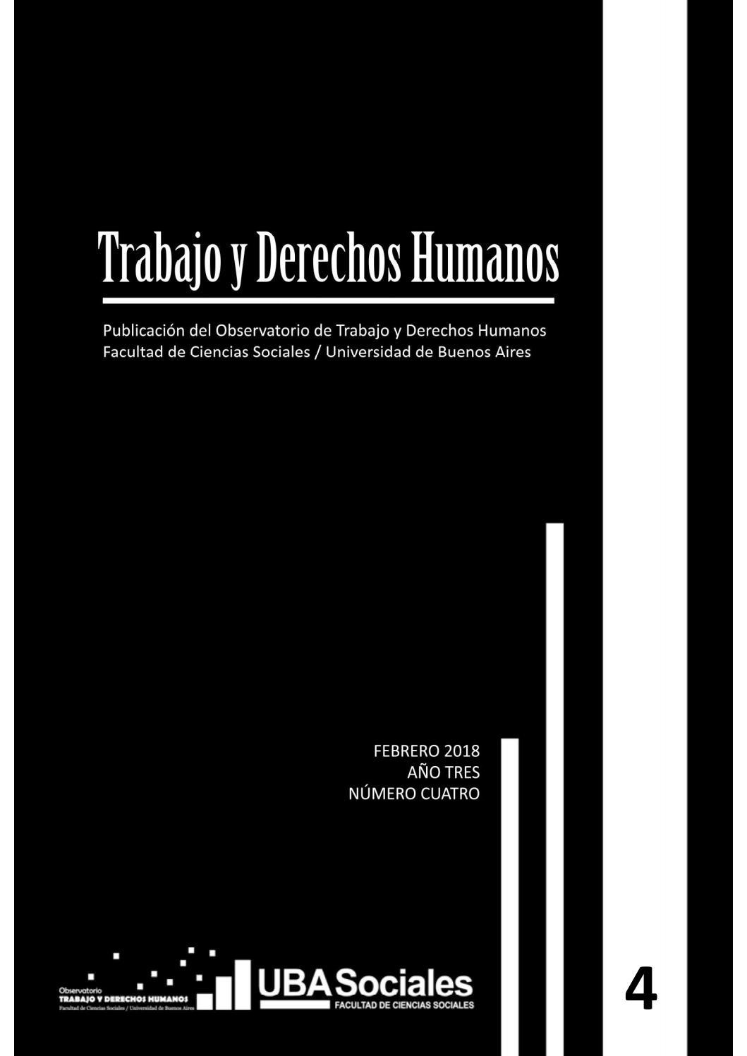 Revista Trabajo y Derechos Humanos #4 by Observatorio de Trabajo y Derechos  Humanos - issuu