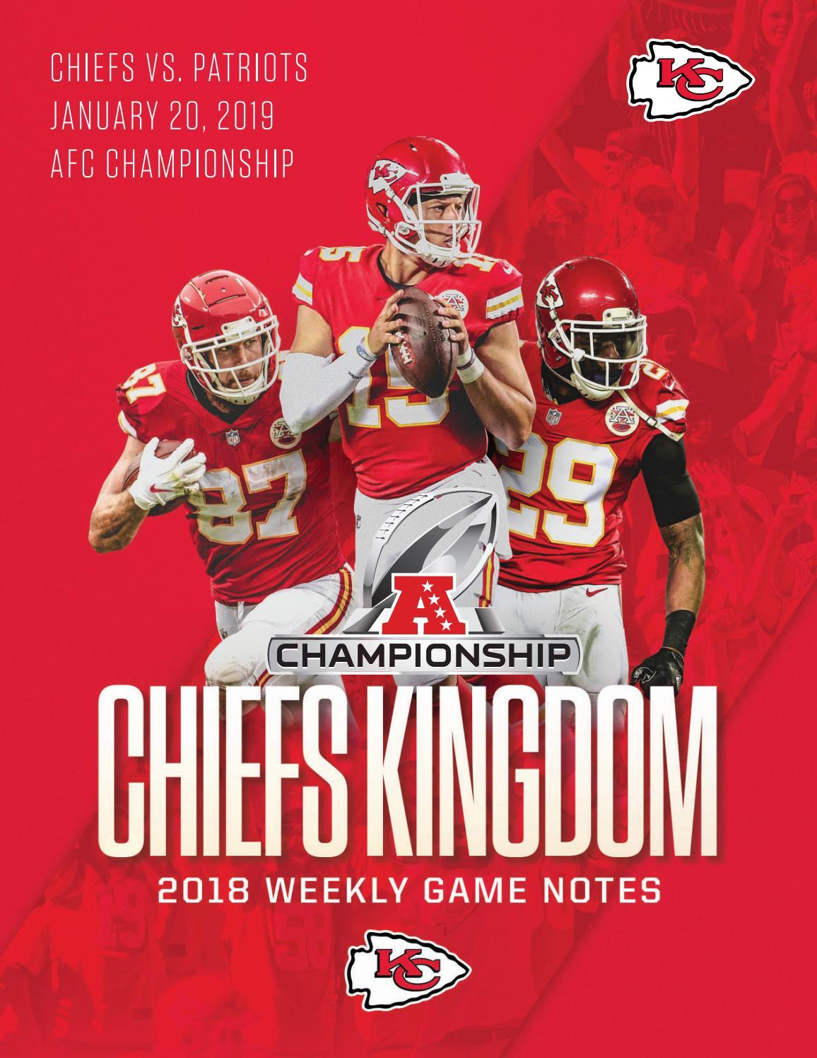 Afc Championship Game Chiefs Vs Patriots 1 20 19 By Kansas City Chiefs Issuu