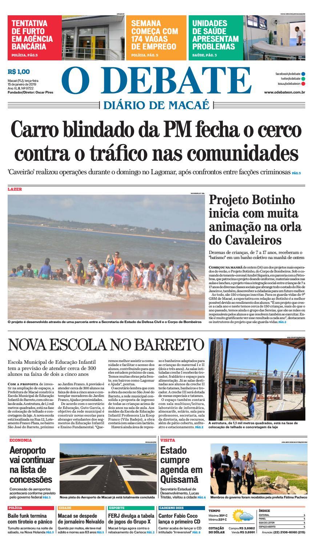 e4792d1b928af Edição 9722 15 01 2019 by O DEBATE Diario de Macae - issuu