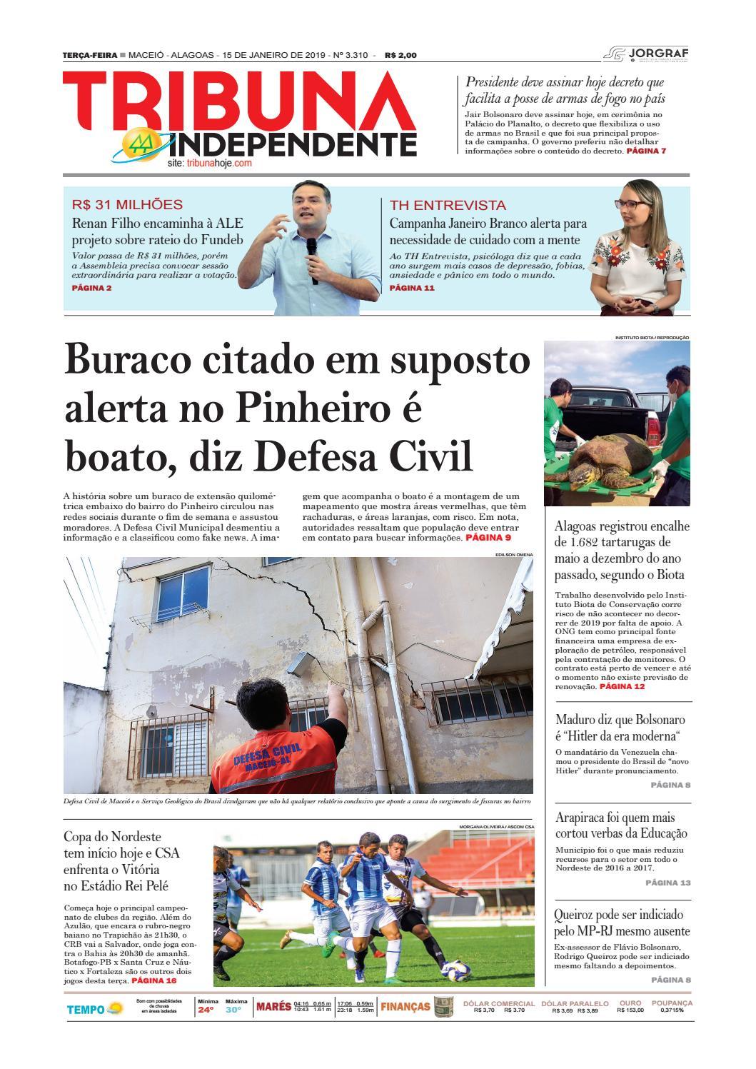 Edição número 3310 - 15 de janeiro de 2019 by Tribuna Hoje - issuu b8390fdca9