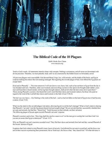 the ten plagues summary