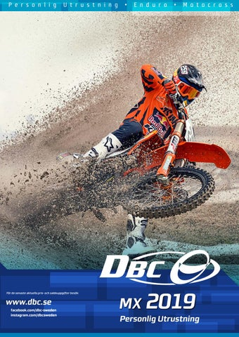 DBC MX 2019 Personlig Utrustning by Duell Bike-Center Oy - issuu 311af323e4143