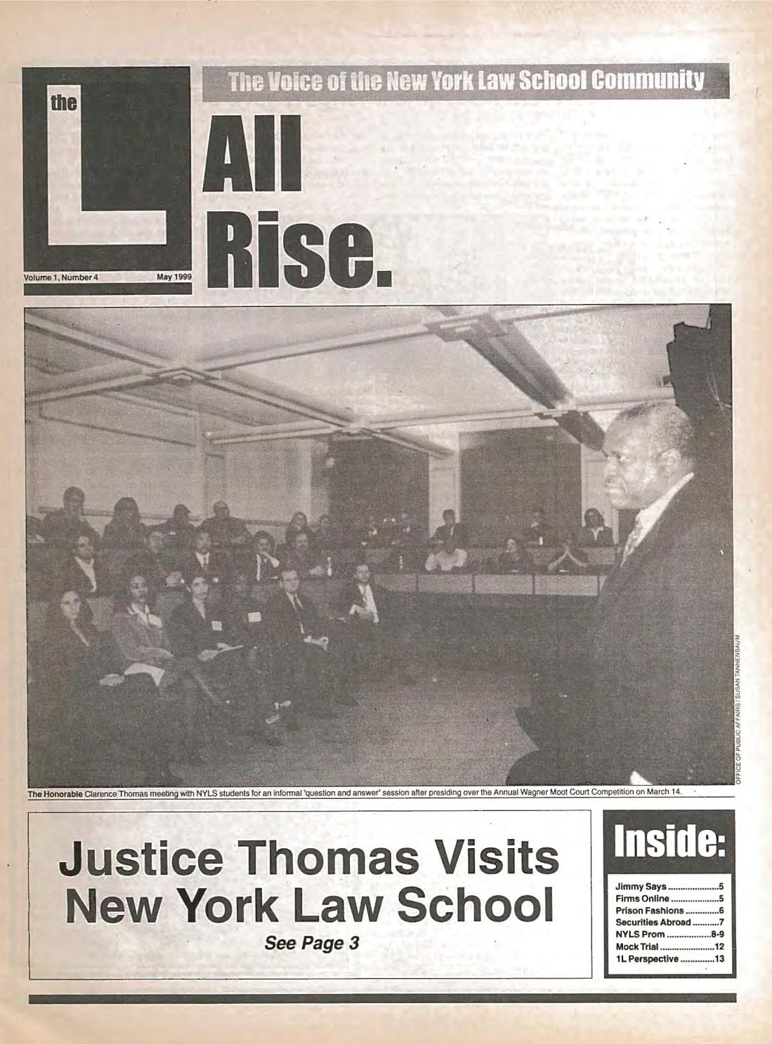 The L, vol 1, no  4, May 1999 by New York Law School Library