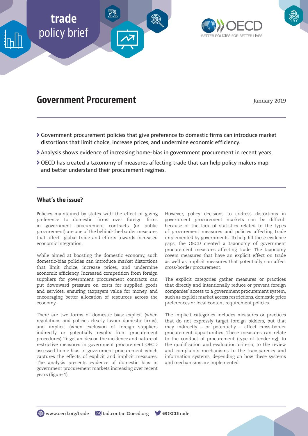 Government procurement by OECD - issuu