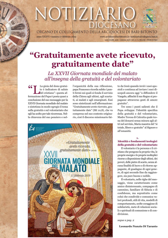 Padre Michele Vassallo Calendario 2019.Notiziario Diocesano Febbraio 2019 By Ufficio Comunicazioni