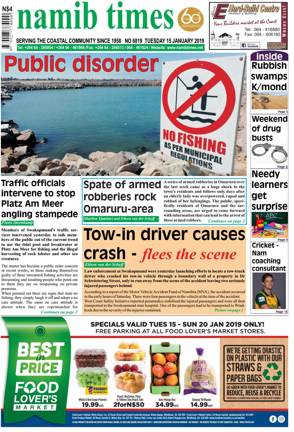 15 jan namib times e-edition by Namib Times Virtual - issuu