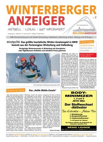3e7ad6908627b6 Winterberger Anzeiger Ausgabe von16.01.2019 Nr.2 by Brilon ...