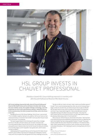 Page 24 of HSL Group Invests in Chauvet Professional