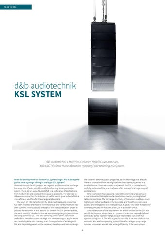 Page 86 of Gear Heads: d&b audiotechnik KSL System