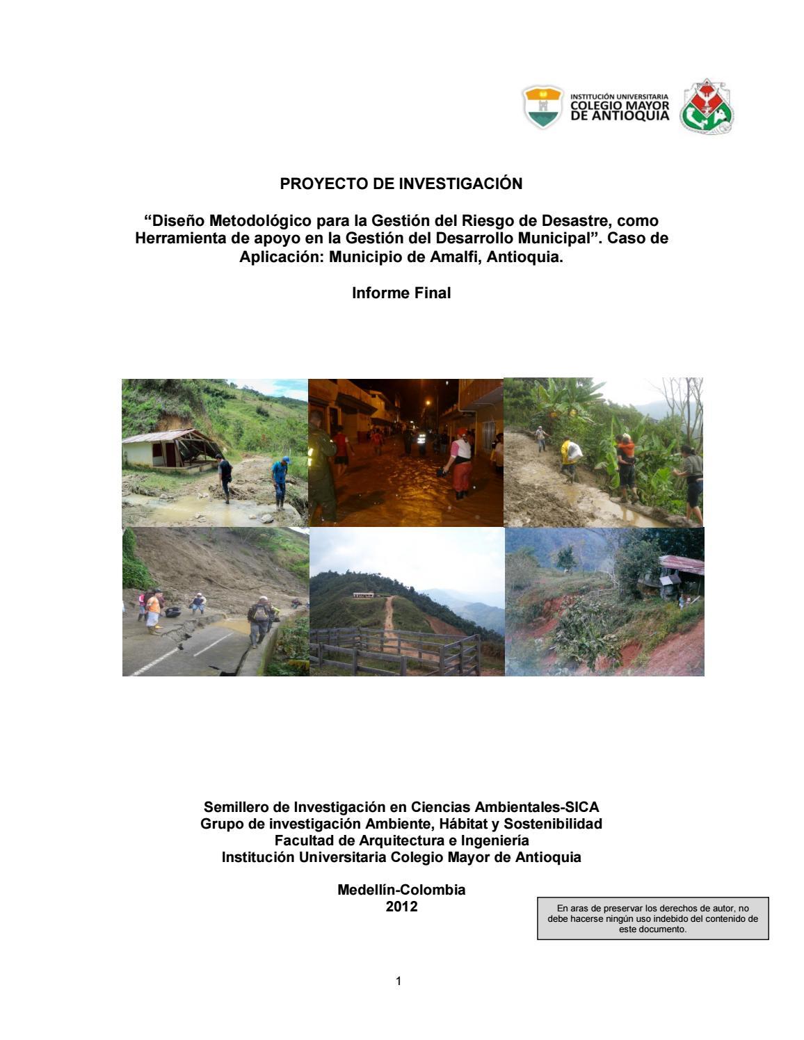 99e9a2bfe03 Diseño metodológico para la gestión del riesgo de desastre como herramienta  de apoyo by colmayor - issuu