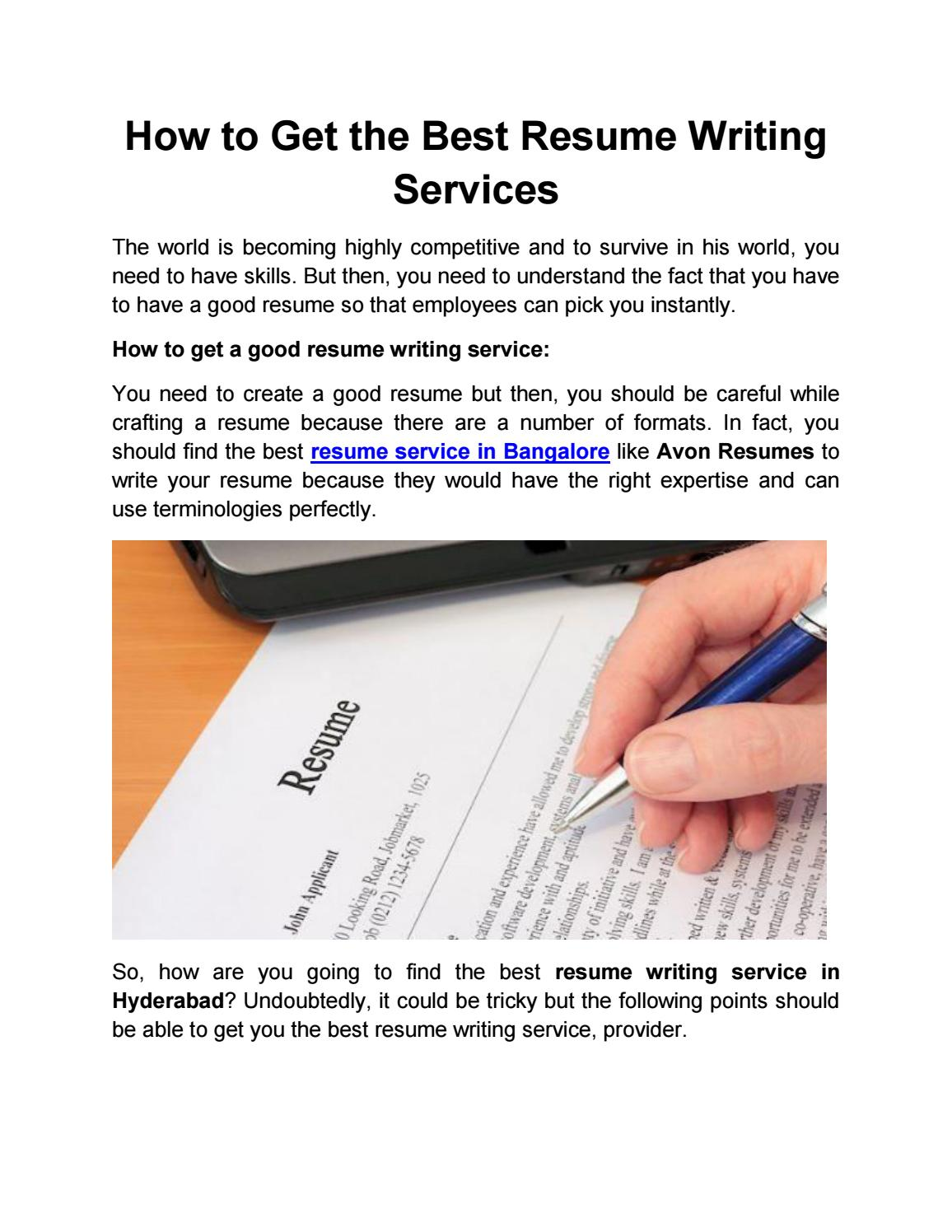 How To Get The Best Resume Writing Services By Arun Tiwari Issuu