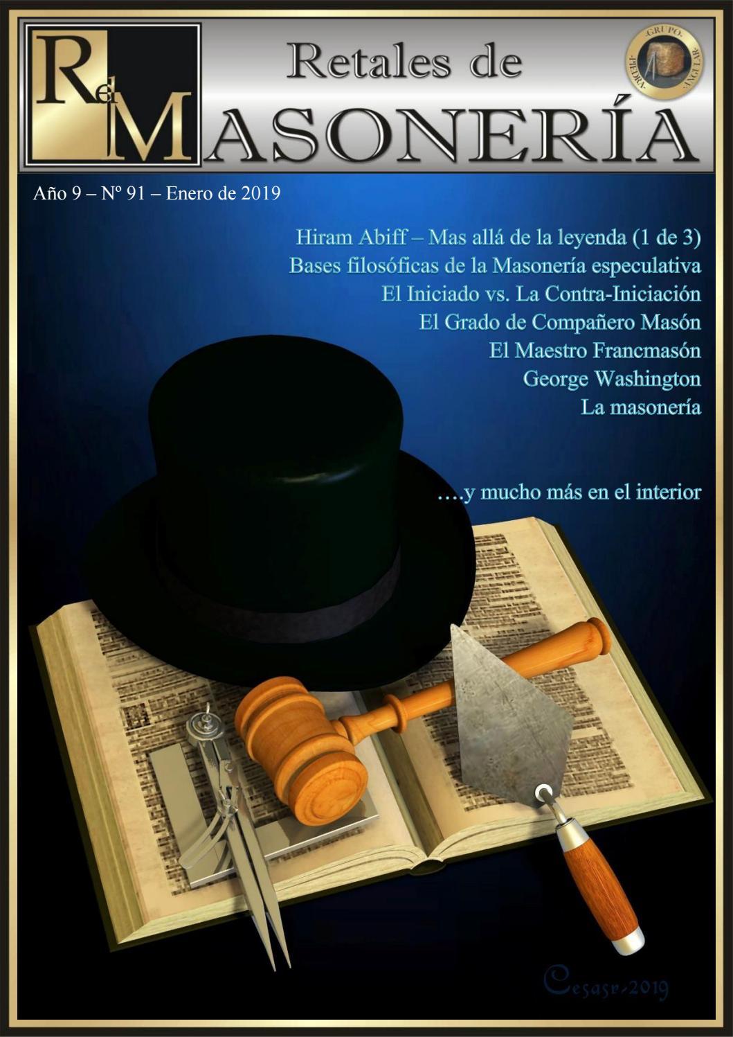Retales Masoneria Numero 091 - Enero 2019 by Grupo Piedra