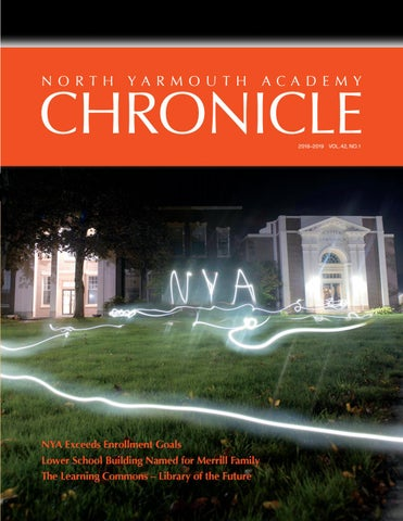 Chronicle Magazine Fall 2018 by North Yarmouth Academy - issuu