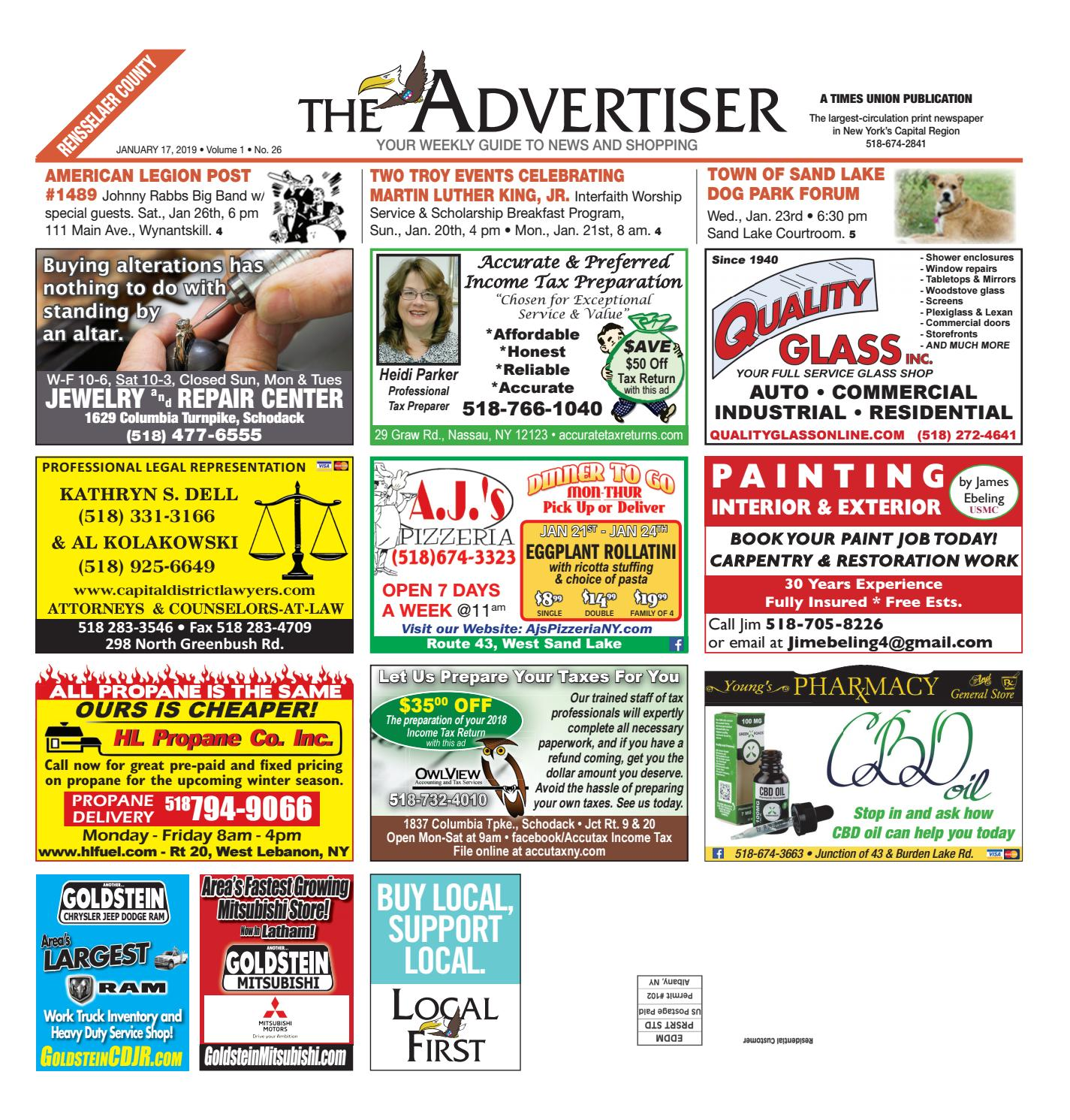 Local First The Advertiser 011719 by Capital Region Weekly Newspapers -  issuu