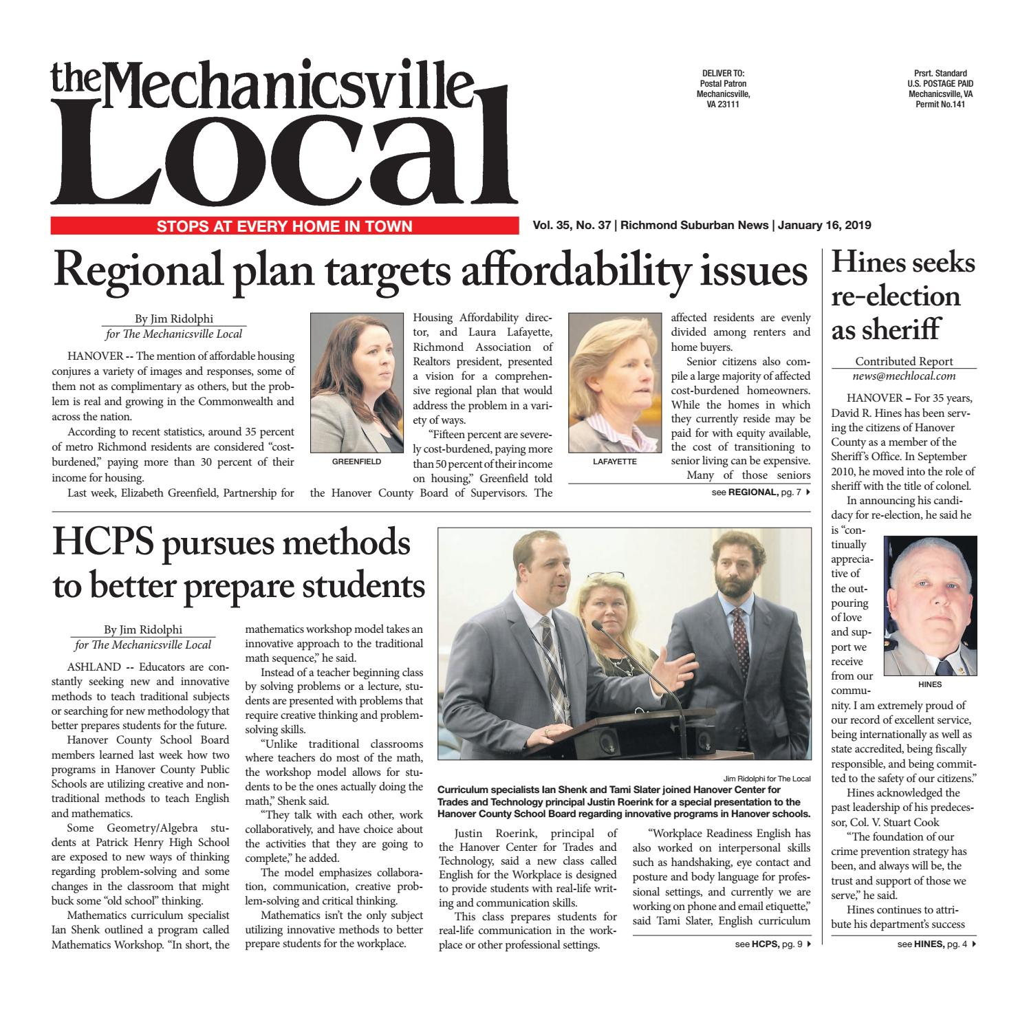 01/16/19 by The Mechanicsville Local - issuu