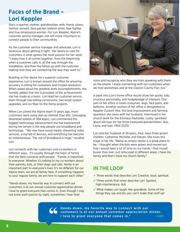 Page 2 of Faces of the Brand - Lori Keppler