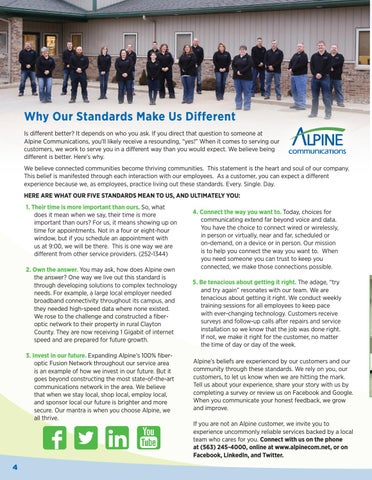 Page 4 of Why Our Standards Make Us Different