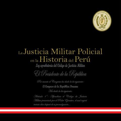 La Justicia Militar en la Historia del Perú II by BIBLIOTECA FMP - issuu ce2ec9ef2856
