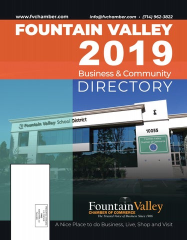 2019 Fountain Valley Business And Community Directory By Fountain