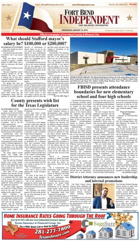 Fort Bend Independent 011619 by Fort Bend Independent - issuu
