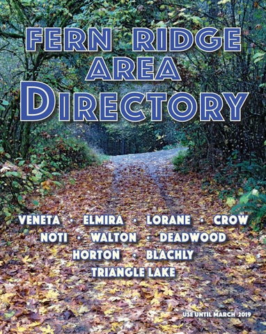 Fern Ridge Area Phone Directory By Function 4 Junction Issuu
