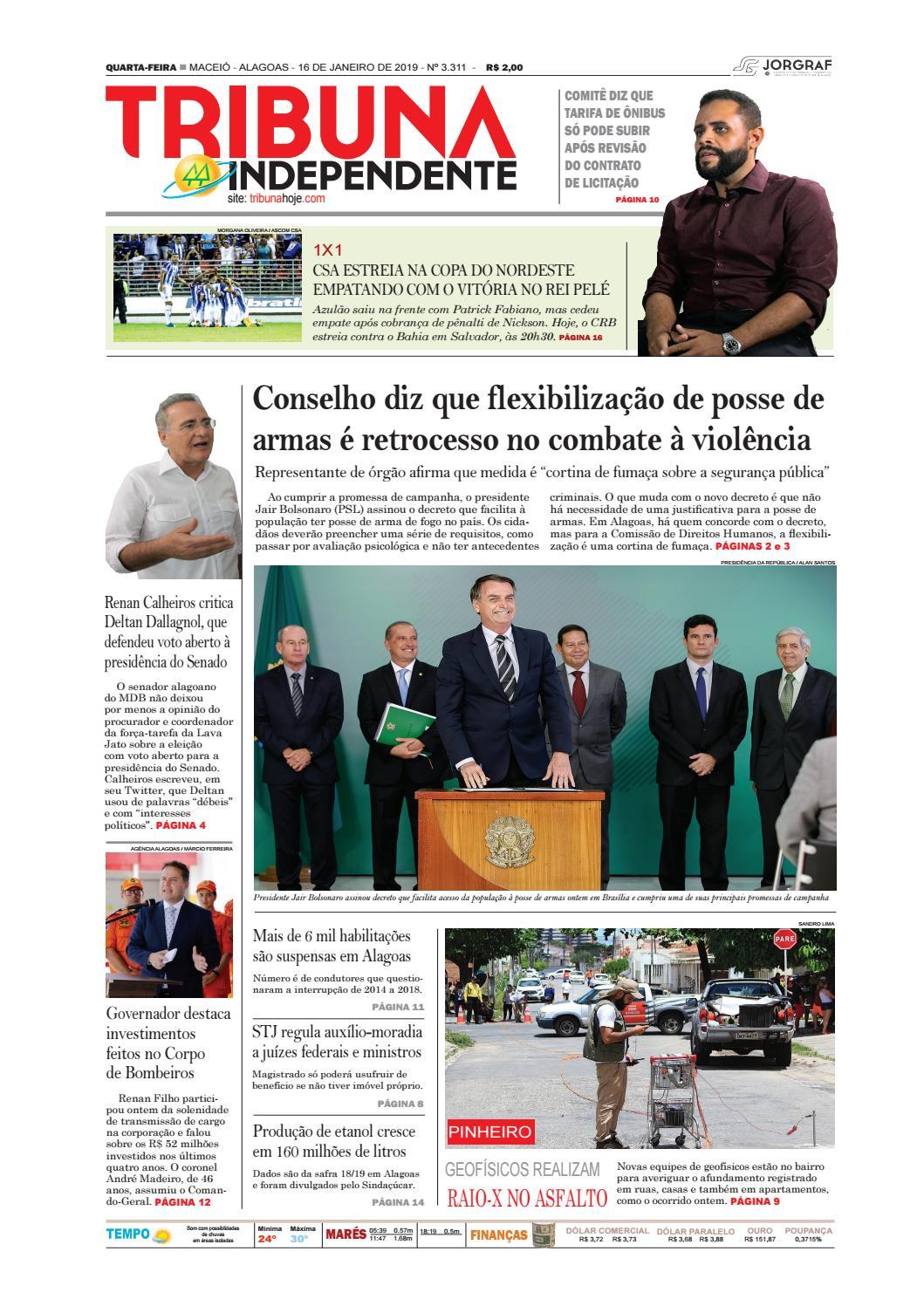 30d4eb2424 Edição número 3311 - 16 de janeiro de 2019 by Tribuna Hoje - issuu