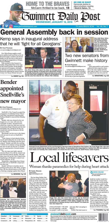 January 16, 2019 — Gwinnett Daily Post by Gwinnett Daily