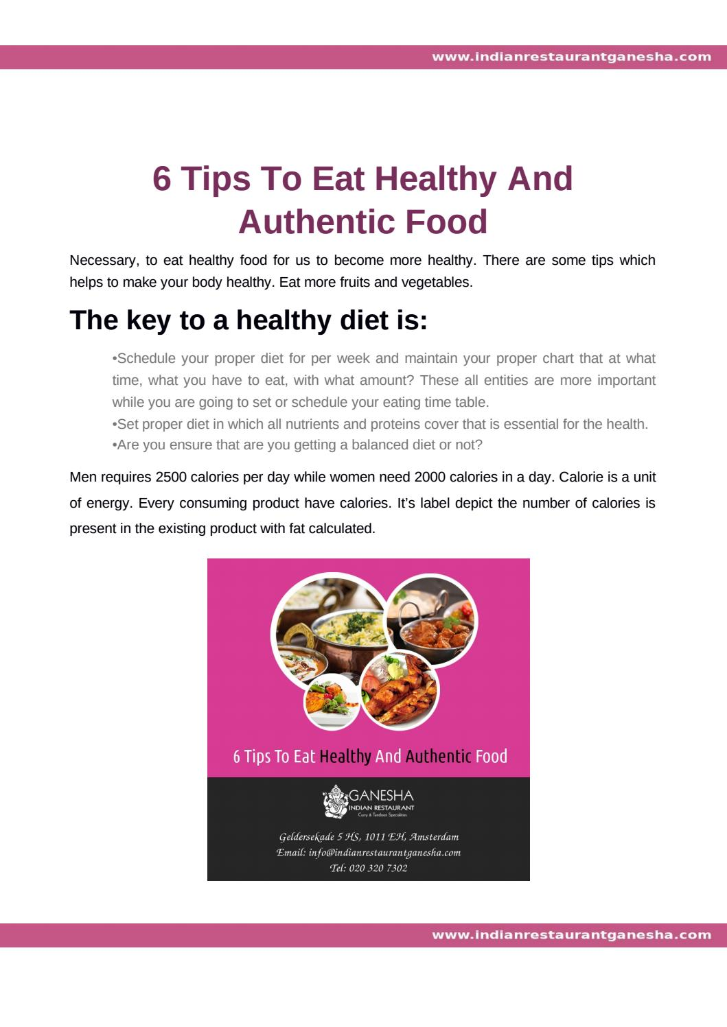 Important Tips For Balanced Diet