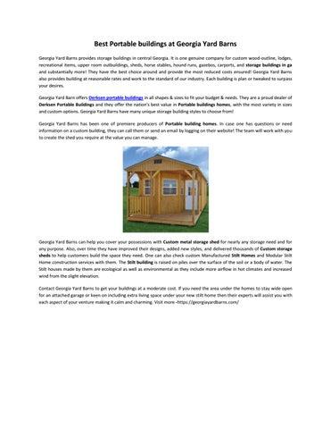 Derksen Cabins   Storage Buildings Company - Yard Barns