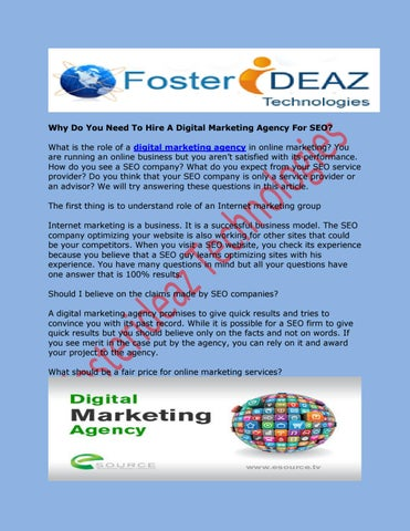 Why Do You Need To Hire A Digital Marketing Agency For SEO? by