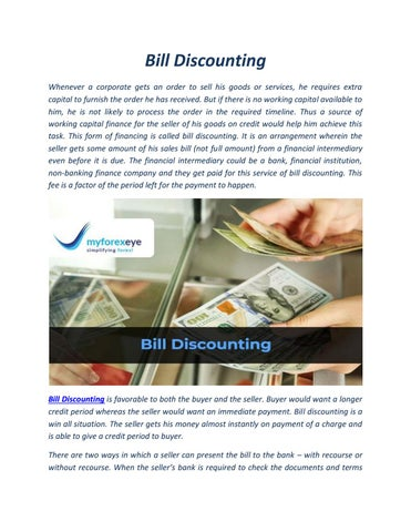 Bill Discounting by Forex Services in India - issuu