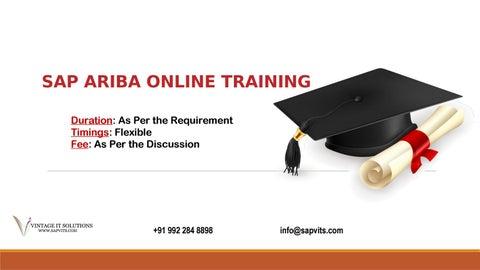 SAP Ariba certification material in Pune  SAP Ariba overview