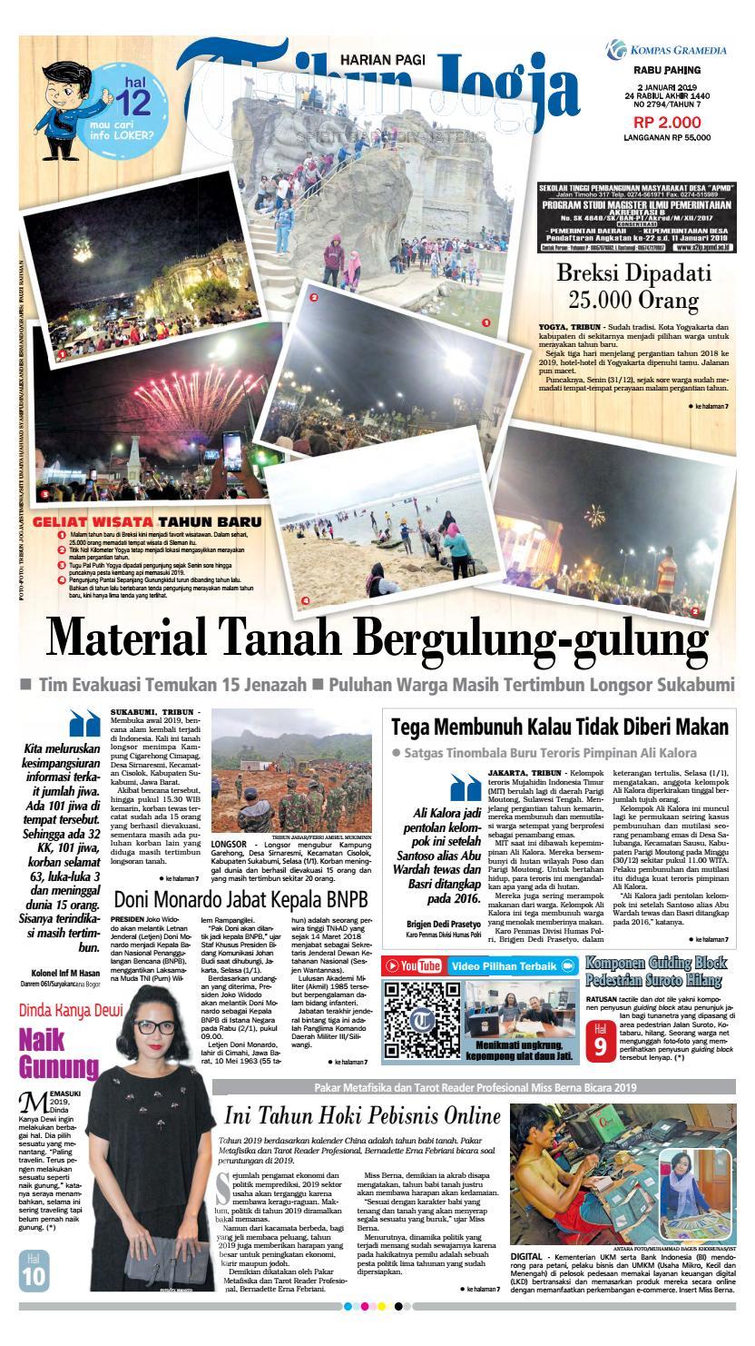 7cfa9d57f2b3 Tribun Jogja 02-01-2019 by tribun jogja - issuu