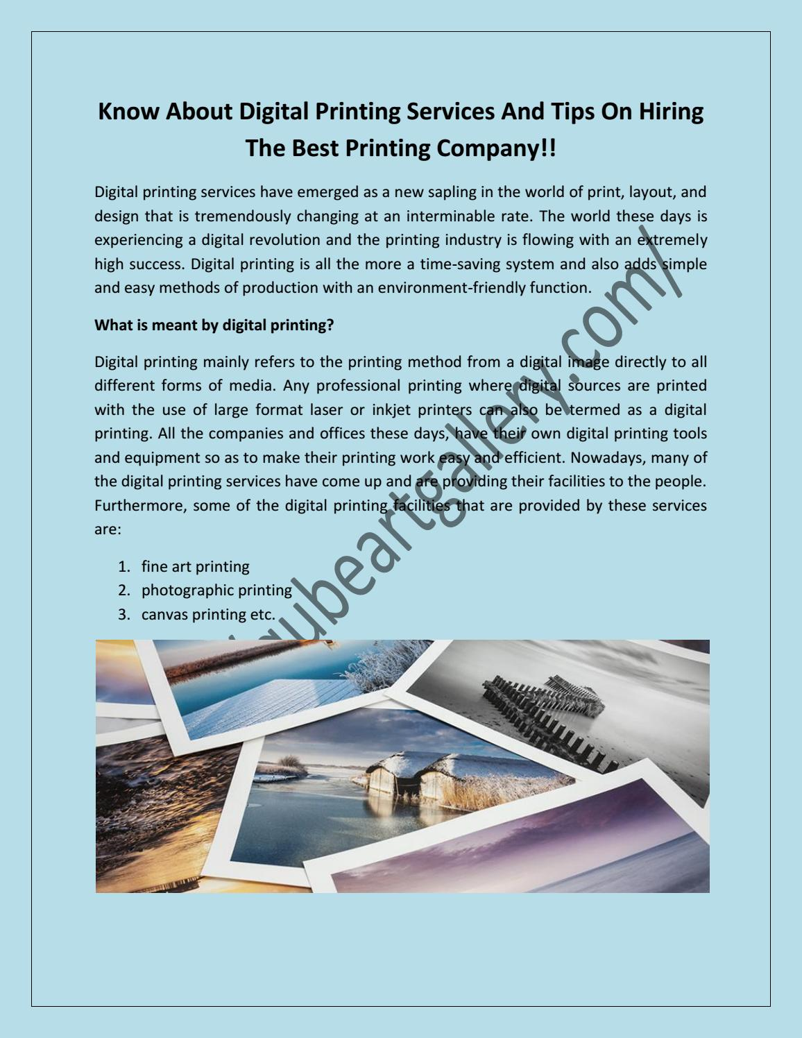 How to Hire Digital Printing Services in Dubai UAE by Qube