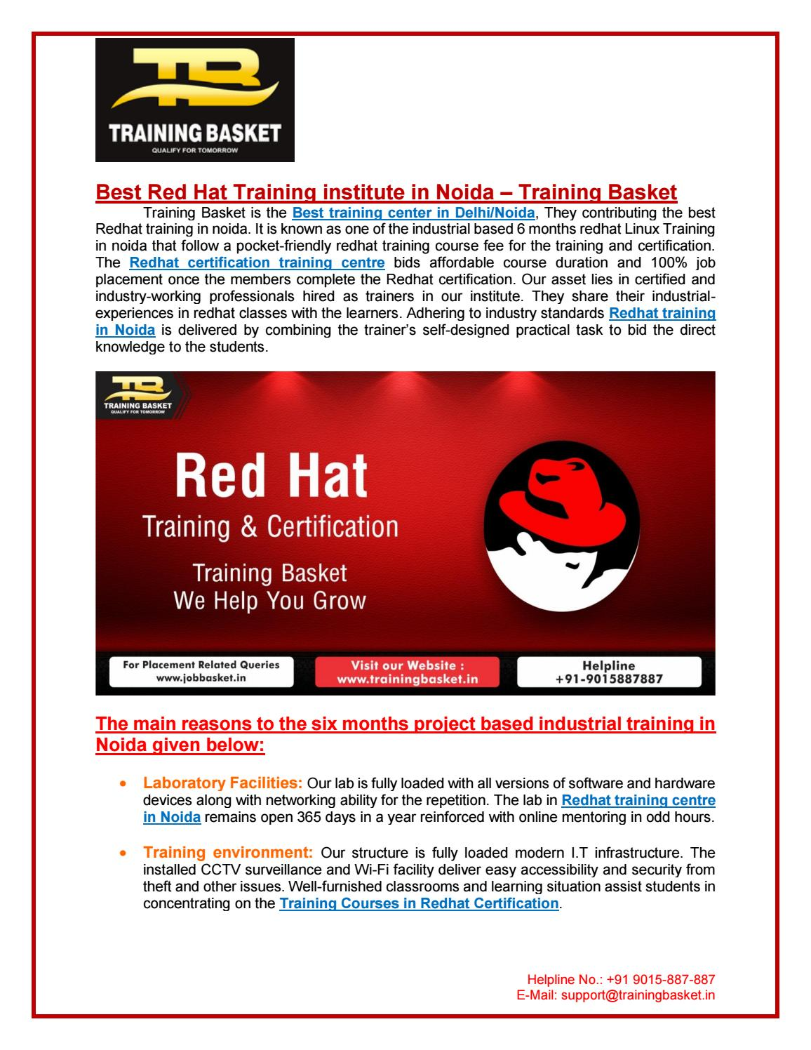 Best Red Hat Training Institute in Noida   Training Basket