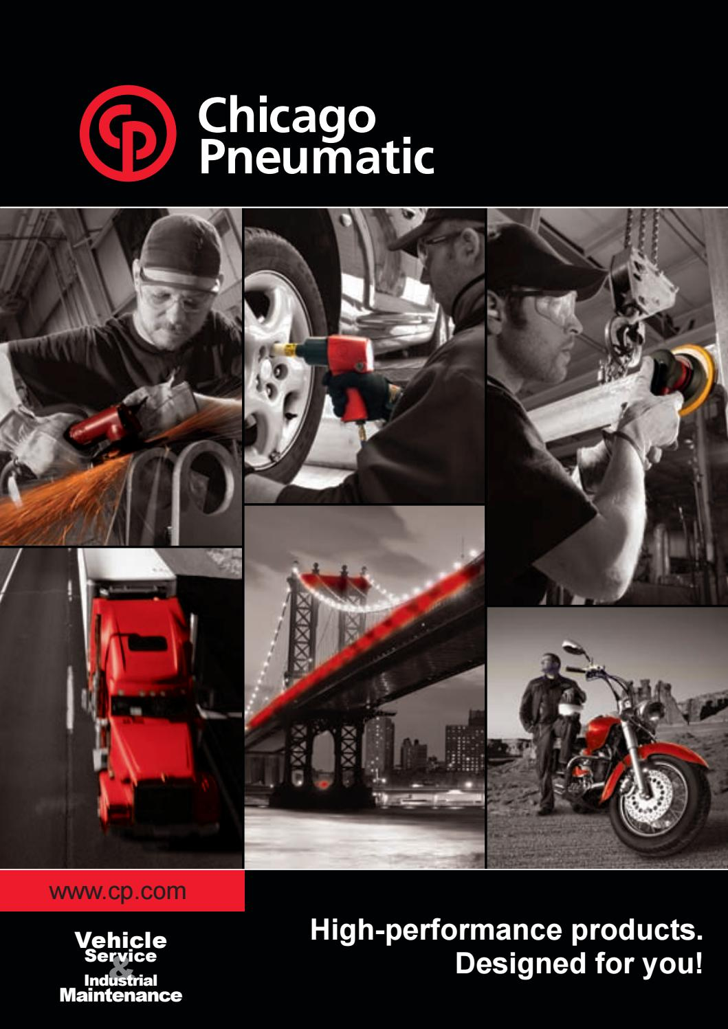 """3//8/"""" Spindle Chicago Pneumatic 5/"""" Angle Grinder CP9121CR"""