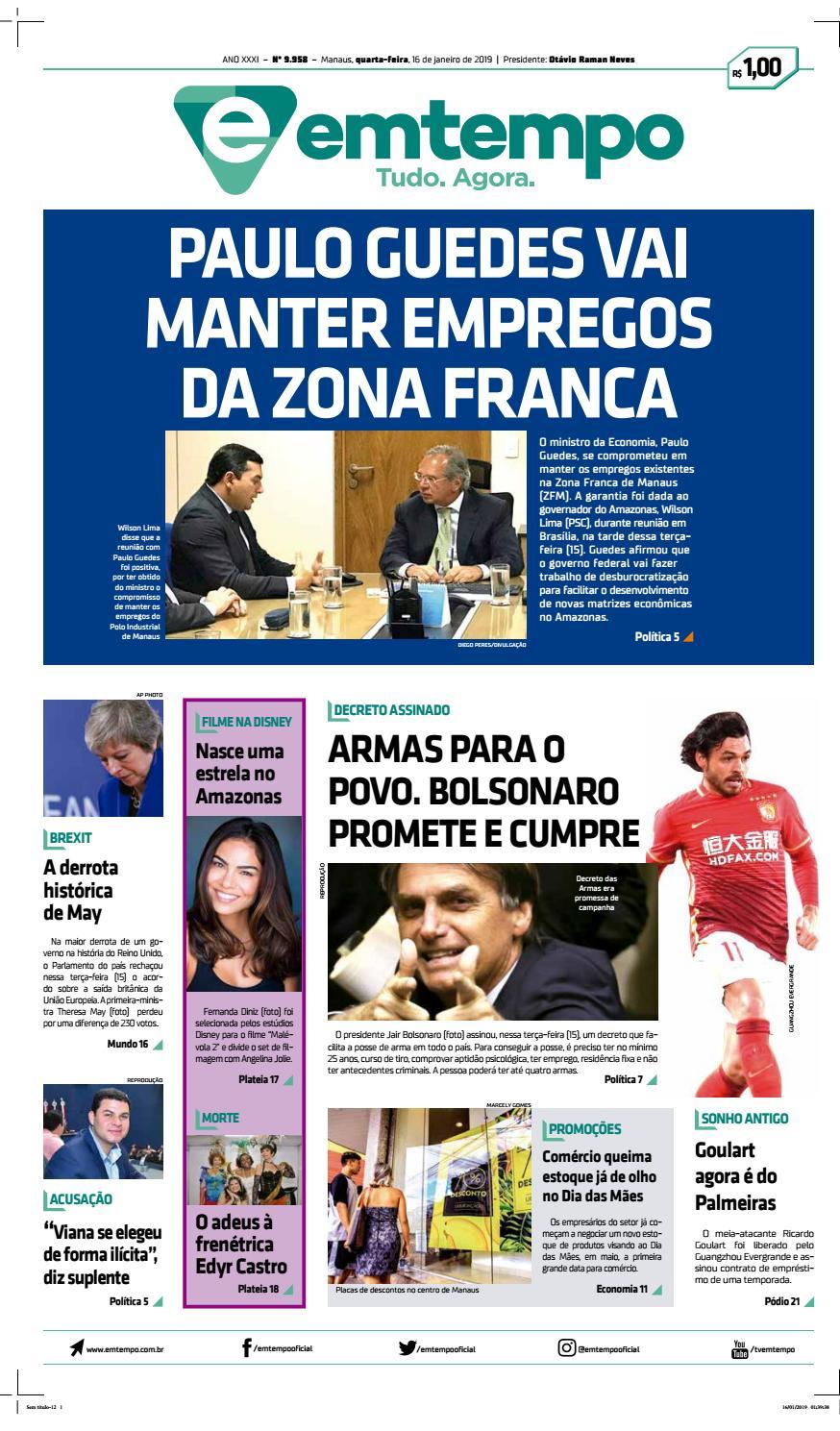 317478517c Em Tempo - 16 de Janeiro de 2019 by Amazonas Em Tempo - issuu