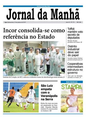 5aca8fba7 Jornal da Manhã - Quinta-feira - 10-01-2019 by clicjm - issuu