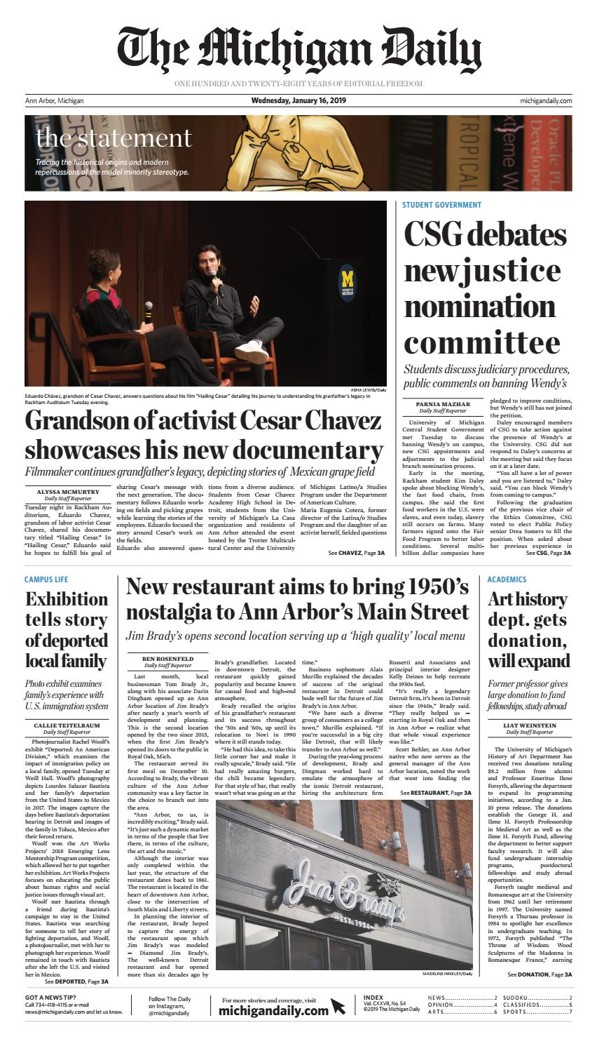 2019-01-16 by The Michigan Daily - issuu b049b73eae78