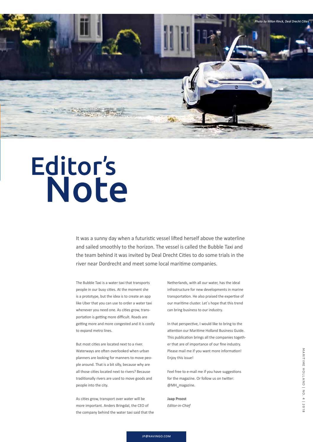 Maritime Holland 4 - 2018 by Navingo BV - issuu