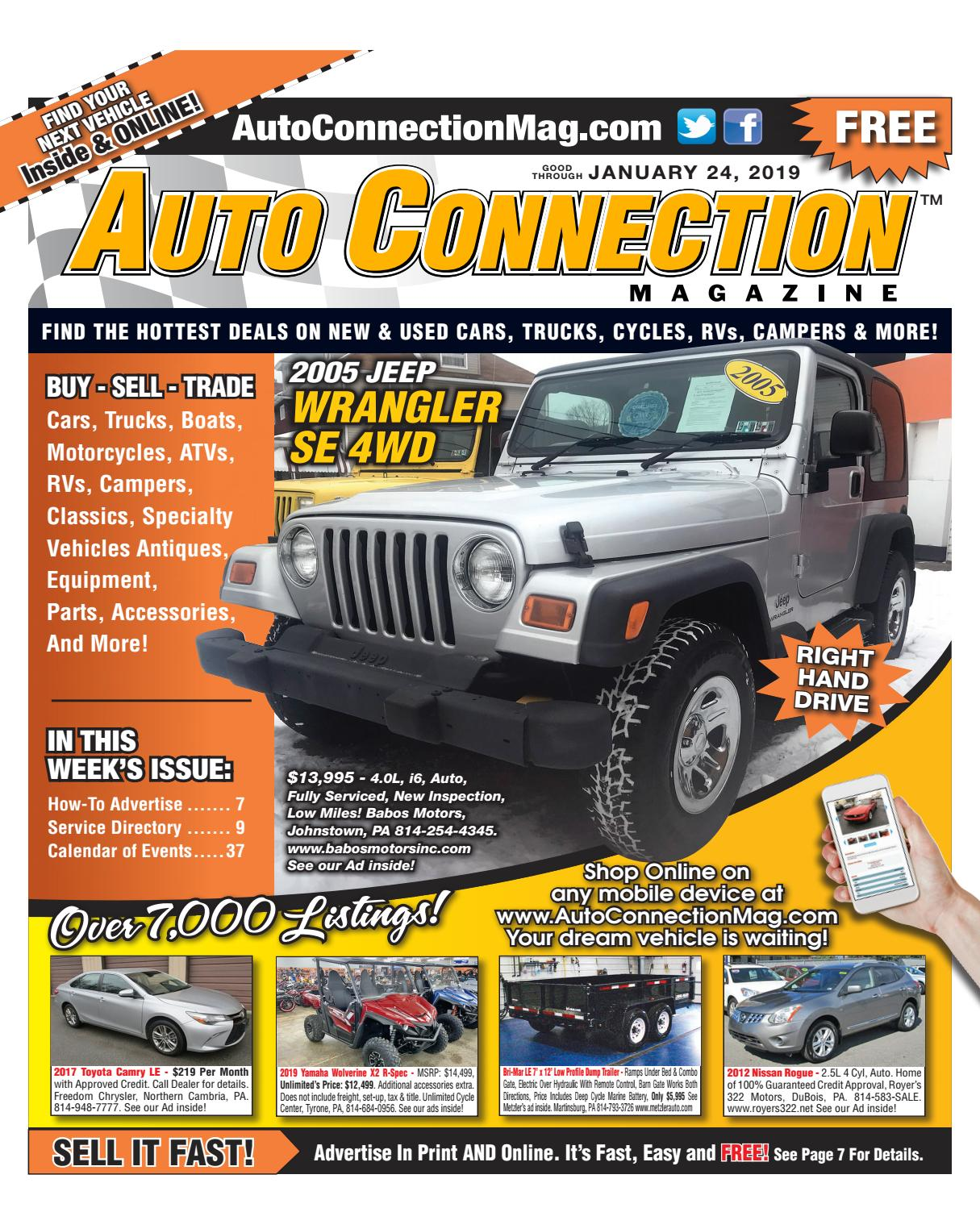 01-24-19 Auto Connection Magazine by Auto Locator and Auto
