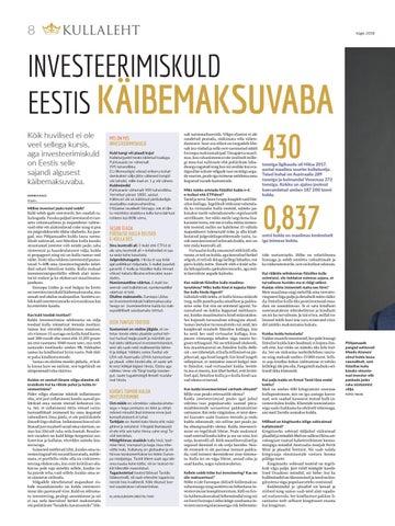 Page 8 of Investeerimiskuld Eestis käibemaksuvaba