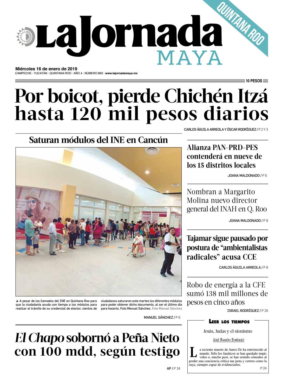 La Jornada Maya · miércoles 16 de enero de 2019 by La Jornada Maya - issuu 8fda612c83a