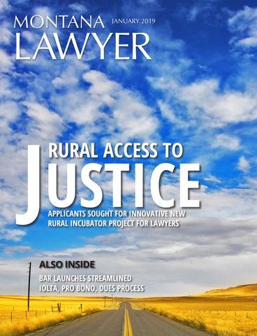 January 2019 Montana Lawyer by State Bar of Montana - issuu
