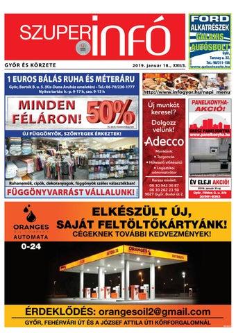5266d7bbd6 Győri Szuperinfó XXII./03– 2019.01.18. by Arrabonamedia - issuu