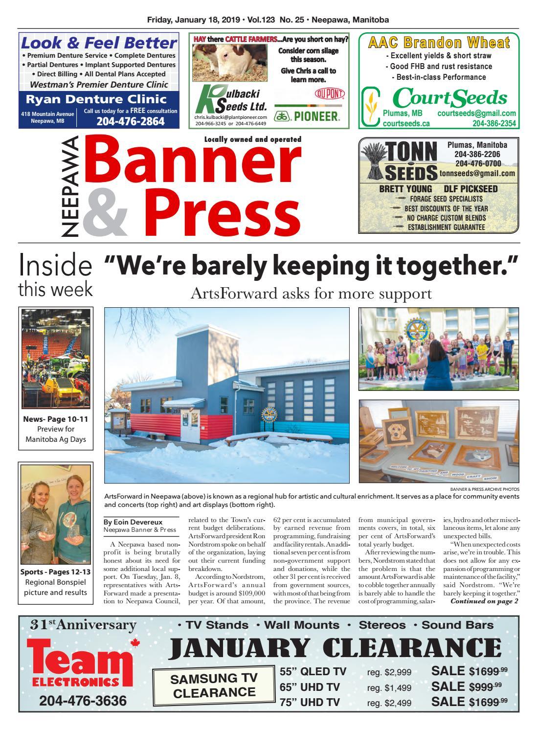 Friday, January 18, 2019 Neepawa Banner & Press by Neepawa