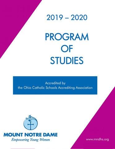 Mount Notre Dame Program of Studies 2019-2020 by Mount Notre