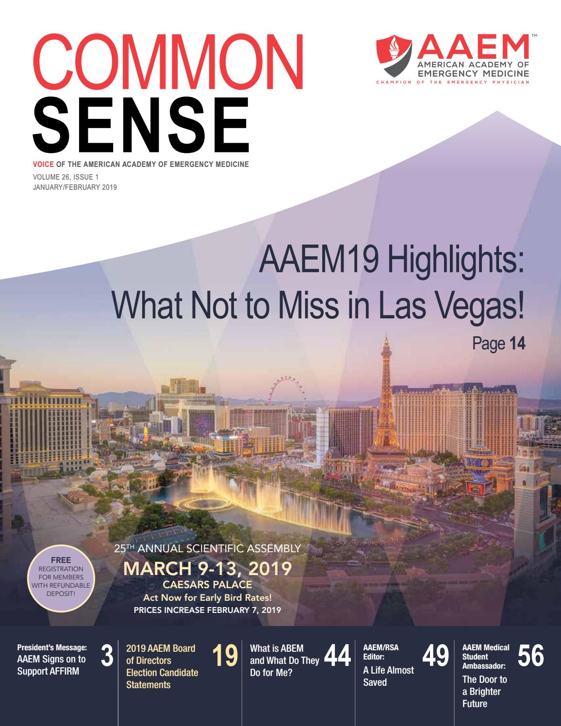 January/February 2019 Common Sense by American Academy of