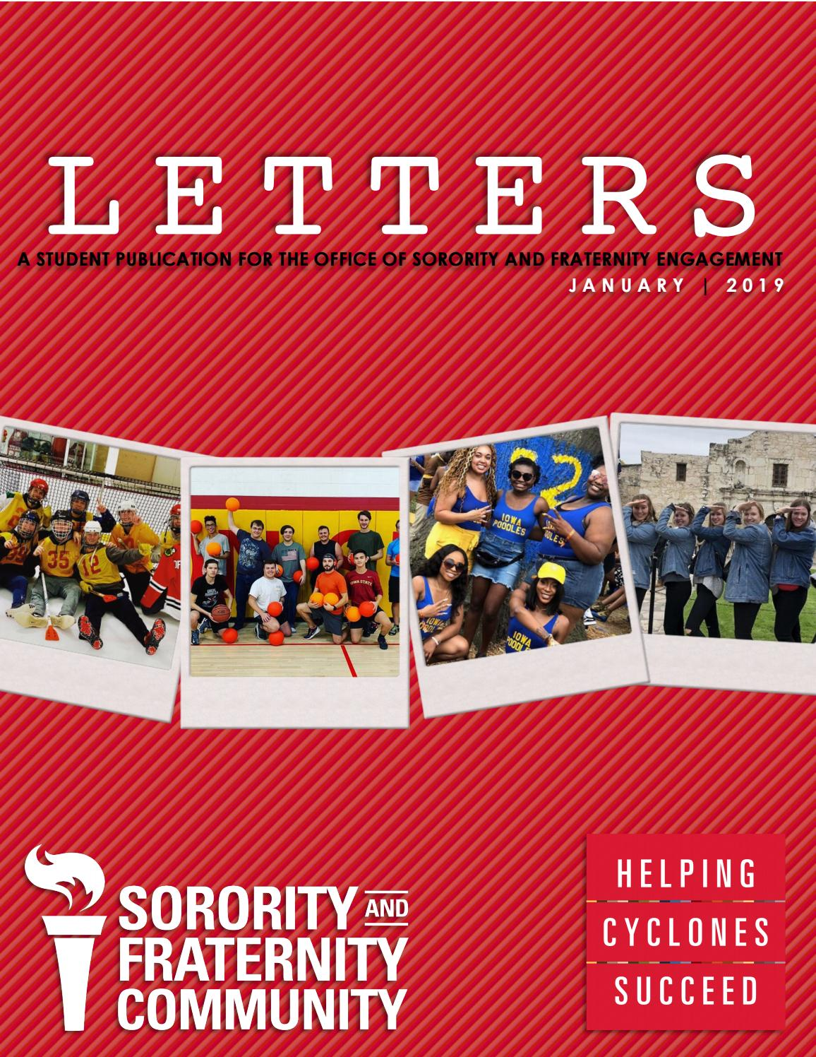 LETTERS January 2019 by Iowa State University Office of