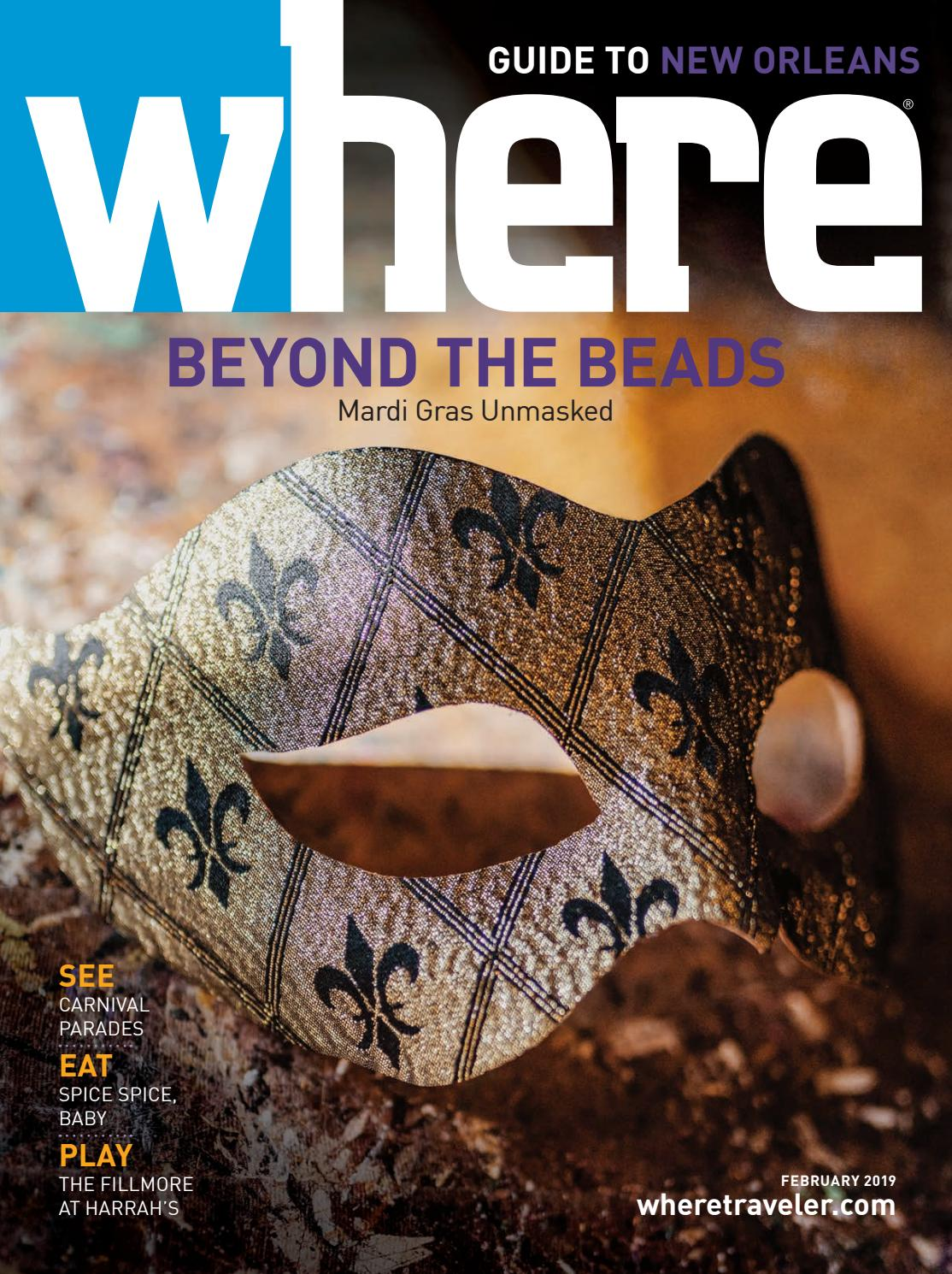 90705d04c1e6 Where Magazine New Orleans Feb 2019 by Morris Media Network - issuu